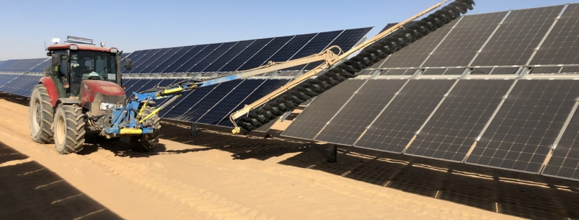 SunBrush® mobil and Infinity establish service base at Benban, Africa's largest solar park